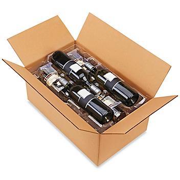 Plastic Wine Shippers - 6 Bottle Pack S-20640