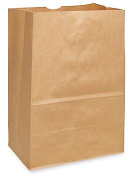 "Recycled Grocery Bags - 12 x 7 x 17"", 1/6 Barrel, Kraft S-20658"