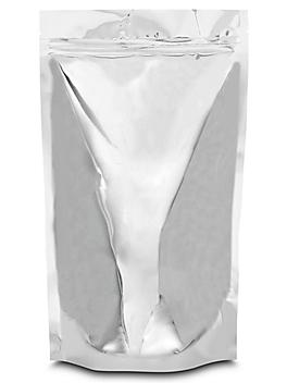 """Glossy Stand-Up Barrier Pouches - 7 x 11 1/2 x 4"""", Silver S-20713SIL"""