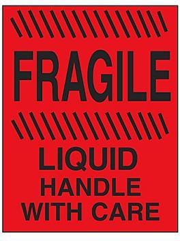 """Fragile/Liquid/Handle with Care"" Label - 4 x 6"" S-20725"