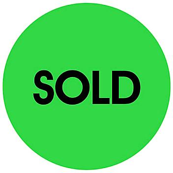 """Circle Inventory Control Labels - """"Sold"""", 2"""" S-20761"""