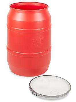 Red Plastic Drum - 55 Gallon, Open Top S-20852
