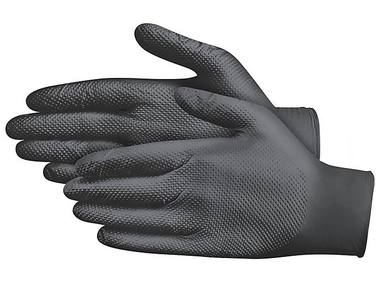 Uline Secure Grip™ Nitrile Gloves - Powder-Free, Black, 2XL S-20863BL-2X