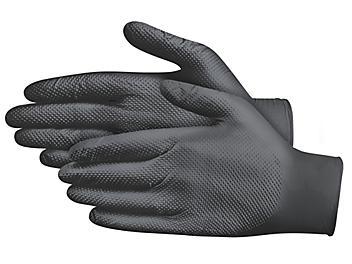 Uline Secure Grip™ Nitrile Gloves - Powder-Free, Black, Medium S-20863BL-M