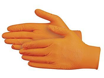 Uline Secure Grip™ Nitrile Gloves - Powder-Free, Orange, Large S-20863O-L