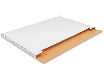 "38 x 26 x 1"" Jumbo White Fold-Over Mailers S-20995"