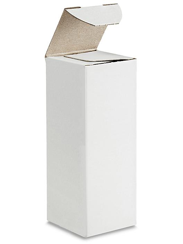 "Reverse Tuck Cartons - White, 1 1/2 x 1 1/2 x 4"" S-21072"