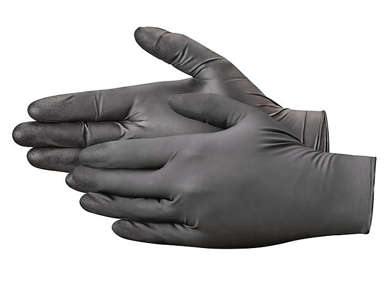 Uline Black Exam Grade Nitrile Gloves - Powder-Free, XL S-21081-X