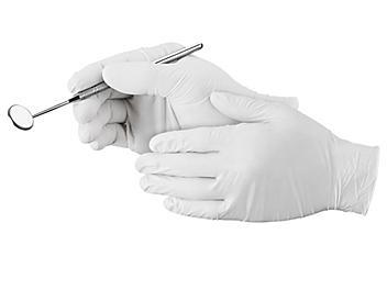 Uline White Nitrile Gloves - Powder-Free, XL S-21082-X