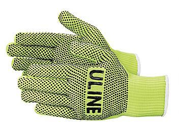 Hi-Vis PVC Dot Knit Gloves