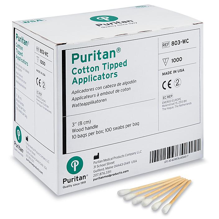 """Cotton Tipped Applicators - Industrial, 3"""" S-21101"""