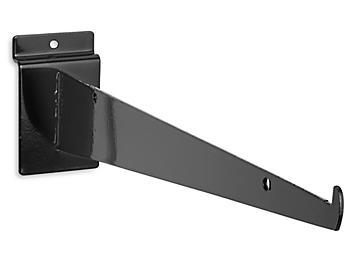 """Shelf Bracket for Slatwall - 12"""", Black S-21144BL"""