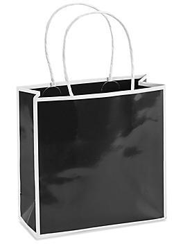"""Boutique Bags - 7 x 3 x 7"""", Mini, Black S-21153BL"""