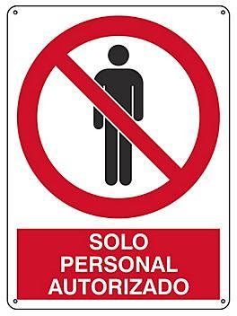 """""""Solo Personal Autorizado"""" Sign - Plastic S-21164P"""