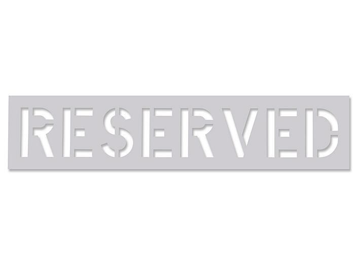 """Parking Lot Stencil - """"Reserved"""" S-21174"""