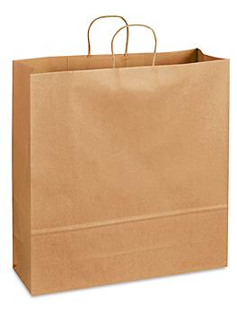 """Recycled Paper Shopping Bags - 18 x 7 x 18 3/4"""", Jumbo S-21196"""