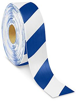 """Mighty Line® Deluxe Safety Tape - 3"""" x 100', Blue/White S-21259BLU/W"""