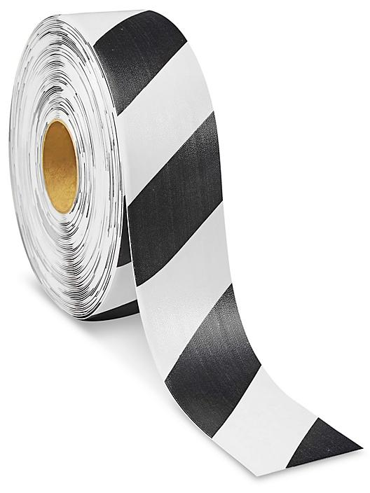 """Mighty Line® Deluxe Safety Tape - 3"""" x 100', Black/White S-21259B/W"""