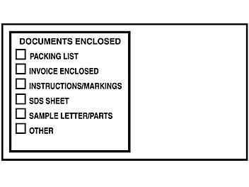 "Transportation Envelopes - ""Documents Enclosed"", 5 1/2 x 10"" S-21296"