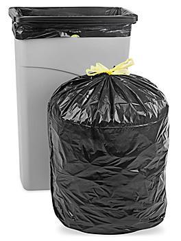 Drawstring Trash Liners - 1 Mil, 23 Gallon, Black S-21324BL