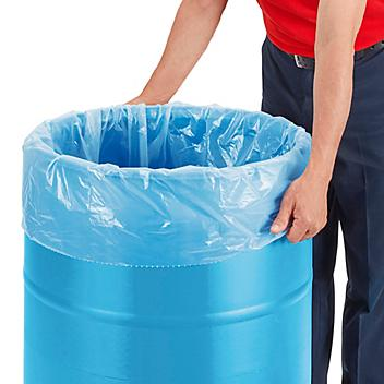 Uline Industrial Coreless Trash Liners - 1.5 Mil, 55-60 Gallon, Clear S-21331C