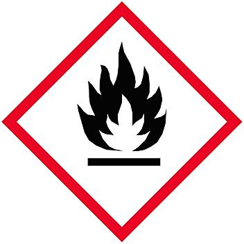 """GHS Pictogram Labels - Flame, 1 x 1"""" S-21333"""