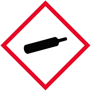 "GHS Pictogram Labels - Gas Cylinder, 1 x 1"" S-21335"