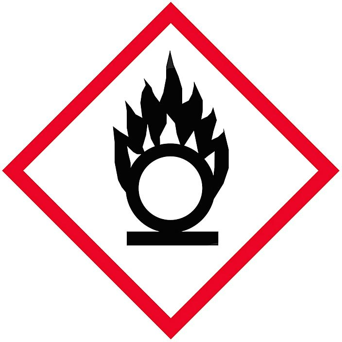 """GHS Pictogram Labels - Flame Over Circle, 1 x 1"""" S-21341"""