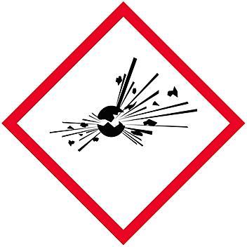 "GHS Pictogram Labels - Exploding Bomb, 2 x 2"" S-21349"