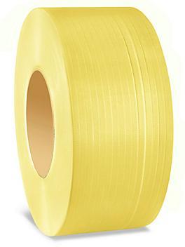 "Machine Strapping - 1/2"" x .023"" x 9,900', Yellow S-21417"