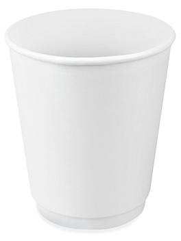 Double-Wall Paper Cups - 8 oz, White S-21465W