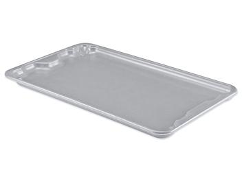 """Heavy-Duty Stack and Nest Container Lid - 24 x 15"""", Gray S-21491GR"""