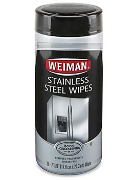 """Weiman® Stainless Steel Cleaner Wipes - 7 x 8"""" S-21520"""