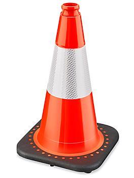 "Heavy Duty Reflective Traffic Cones - 18"""