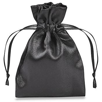 "Satin Bags - 3 x 4"", Black S-21651BL"