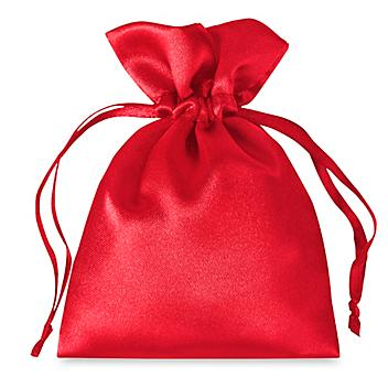 """Satin Bags - 4 x 6"""", Red S-21652R"""