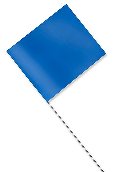 "Stake Flags - 4 x 5"", Blue S-21660BLU"