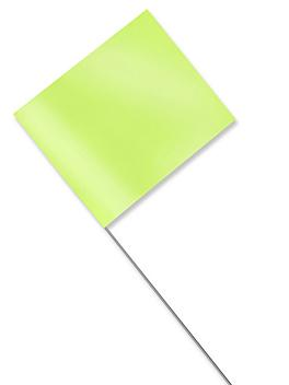 """Stake Flags - 4 x 5"""", Fluorescent Lime S-21660FL"""