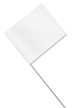 "Stake Flags - 4 x 5"", White S-21660W"