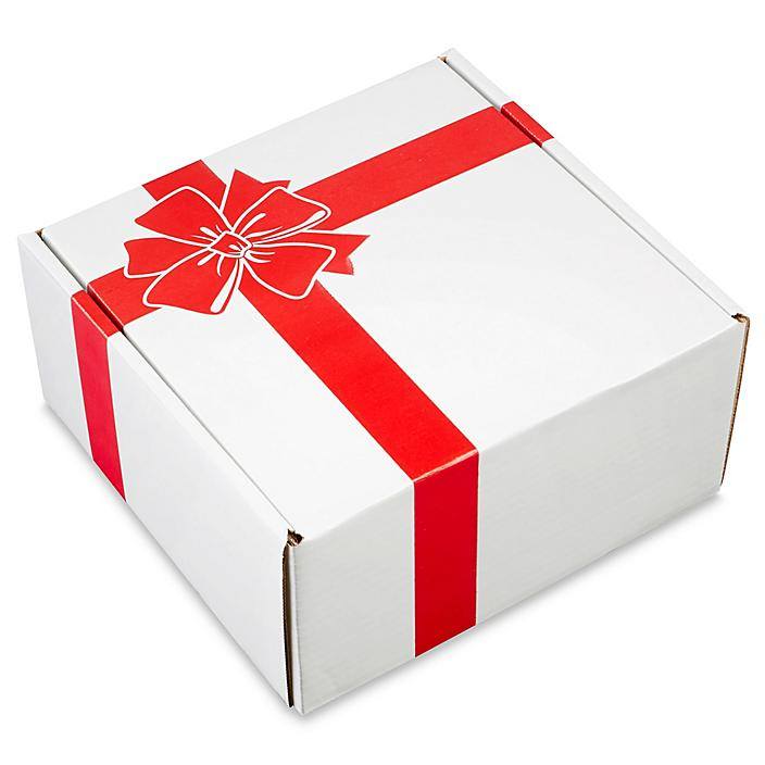 """Holiday Mailer - 10 x 10 x 5"""", Red Bow S-21667BOW"""