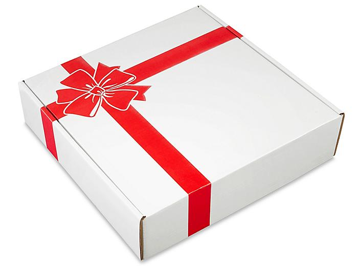 """Holiday Mailer - 16 x 16 x 4"""", Red Bow S-21669BOW"""