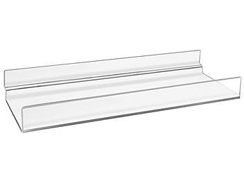 "Slatwall Acrylic Shelves with Lip - 10 x 4"" S-21706"