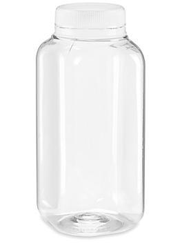 Plastic Juice Bottles - Clear, 8 oz S-21725