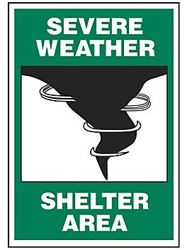 """""""Severe Weather Shelter Area"""" Sign"""