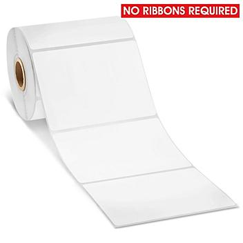 """Removable Adhesive Desktop Direct Thermal Labels - 4 x 3"""" S-21840"""