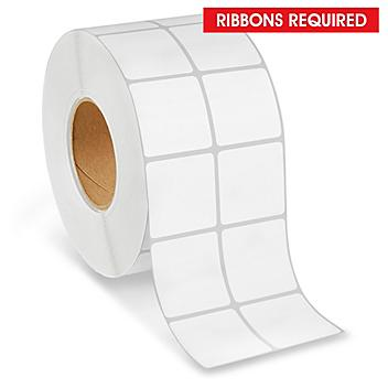 """Industrial Thermal Transfer Labels - 2-Up, 2 x 2"""", Ribbons Required S-21870"""