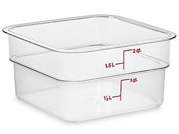 Cambro® Square Food Storage Containers - 2 Quart S-21881