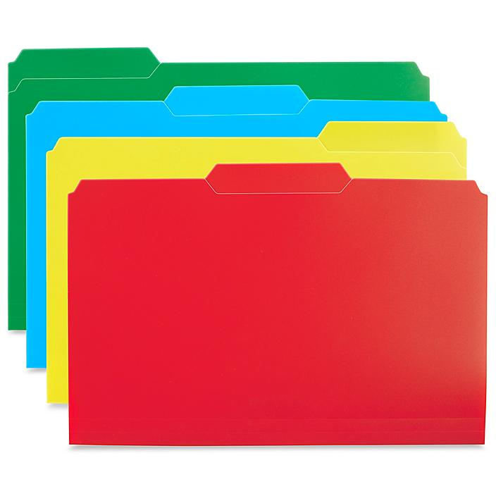 Poly File Folders - Assorted S-21936