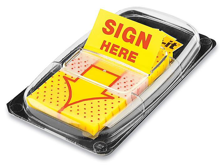 """3M Post-it® Flags - """"Sign Here"""" Arrow S-21964"""