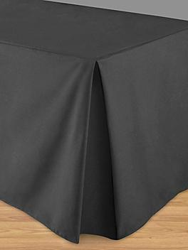 """Fitted Table Cover - 30 x 72 x 29"""", Black S-21991BL"""